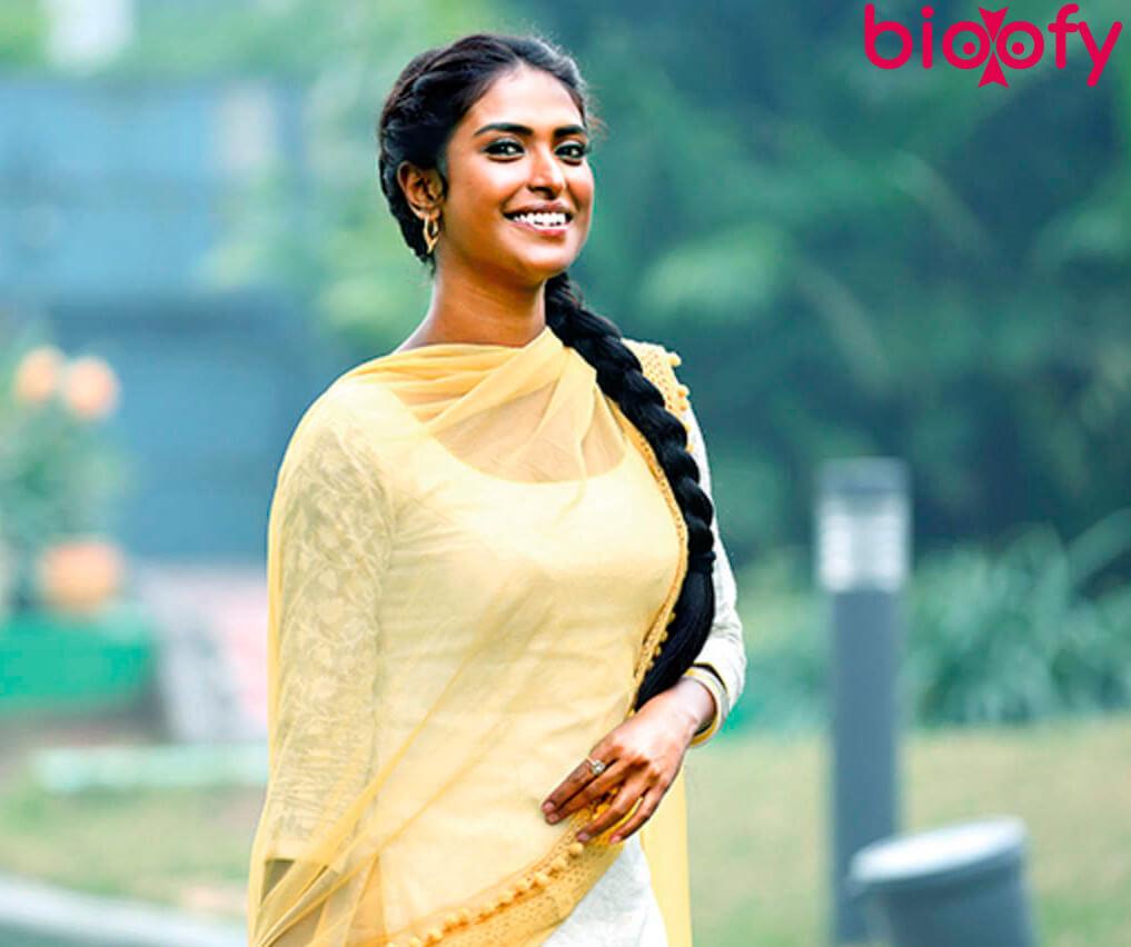 Poulomi Das in yellow dress
