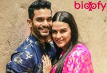 Angad Bedi and Neha Dhupia.