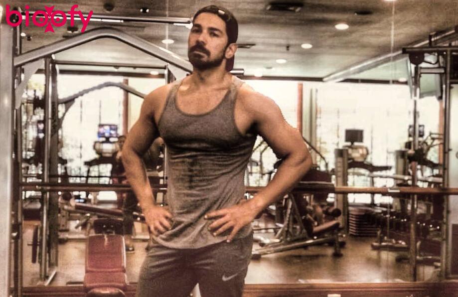 Abhinav Shukla pic in gym