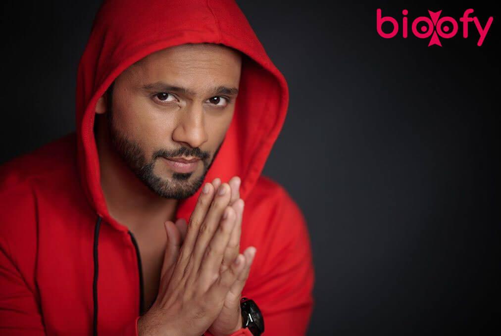 Rahul Vaidya pic in red jacket